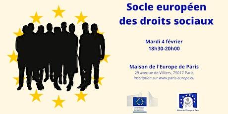Socle européen des droits sociaux billets