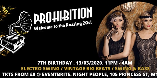 Prohibition 7th Birthday - Welcome to the 20s