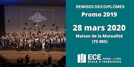 [ECE] REMISE DES DIPLÔMES Promo 2019 (28 mars 2020) - Diplômés Promo 2019 +2 accompagnants tickets