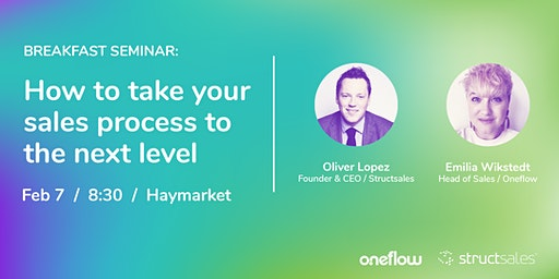 Breakfast Seminar: How to take your sales process to the next level
