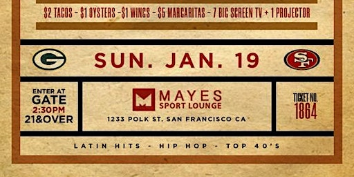 ADDICTION SUNDAY DAY PARTY | QUEST FOR 6 | 49ERS' NFC CHAMPIONSHIP GAME VIEW PARTY | FOOD, DRINKS, & MUSIC