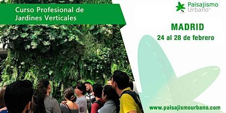 Curso de Jardines Verticales en Madrid tickets