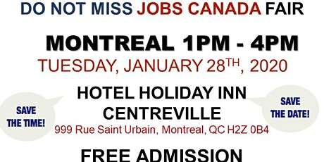 Montreal Job Fair – January 28th, 2020 tickets