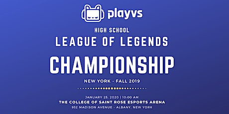 Play VS High School League of Legends Championship - NY tickets