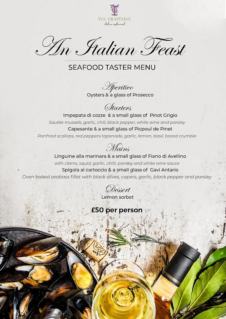 An Italian Feast - Seafood Taster Menu image