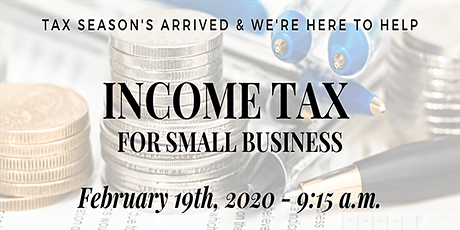 Income Tax for Small Business Seminar tickets