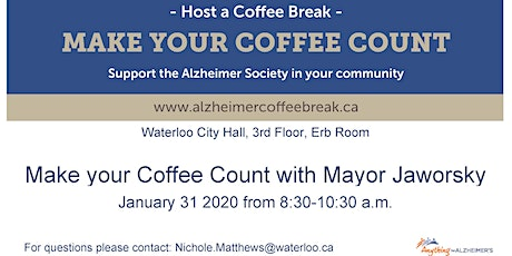 Make your Coffee Count with Mayor Jaworsky  tickets