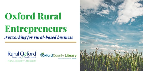 Oxford Rural Entrepreneurs Networking tickets