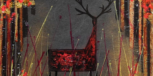 Painting Stags with @nikkimonaghan_art