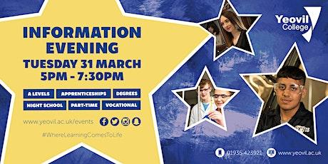 Yeovil College Information Evening - March 2020 tickets