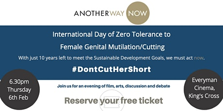 #DontCutHerShort: International Day of Zero Tolerance to FGM/C tickets