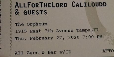All for the lord presents Caliloudd biglietti