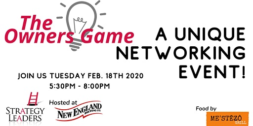 Come play the Owners Game - Unique Networking for Business Owners