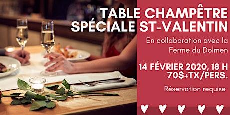 Table Champêtre Spéciale St-Valentin avec la Ferme du Dolmen tickets