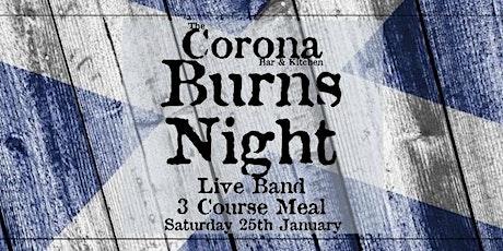 Burns Night at The Corona tickets