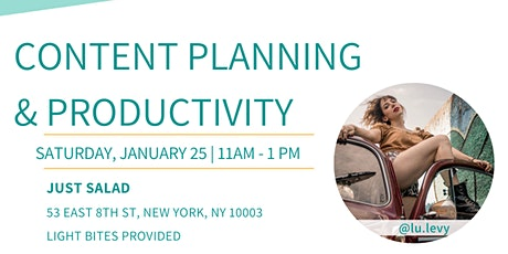 NYC Bloggers: Content Planning & Productivity tickets