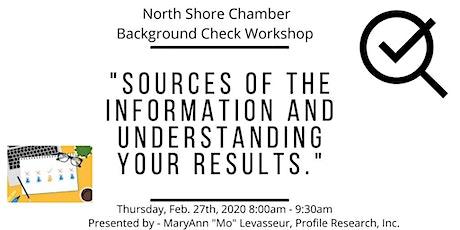 Thursday, February 27th - Background Check Seminar tickets