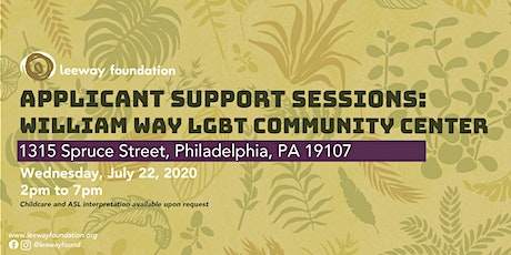 2020 Applicant Support Session: William Way LGBT Community Center tickets