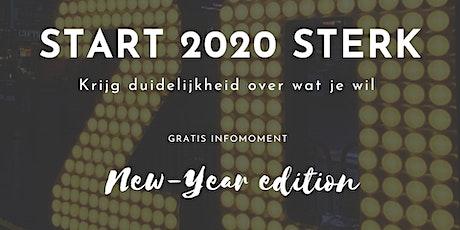 START 2020 STERK: Krijg duidelijkheid over wat je wil tickets