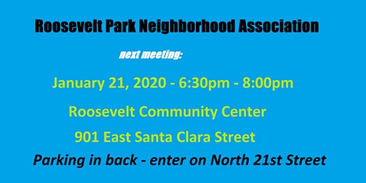 Roosevelt Park Neighborhood Association January 2020 Meeting