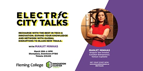 Electric City Talks: An Evening with Manjit Minhas tickets