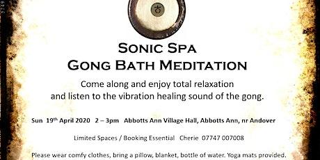 Sonic Spa Gong Bath Meditation - 19th April 2020 tickets