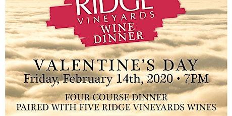 Valentine's Ridge Wine Dinner at Walrus tickets