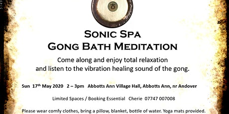 Sonic Spa Gong Bath Meditation - 17th May 2020 tickets