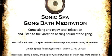 Sonic Spa Gong Bath Meditation - 14th June 2020 tickets