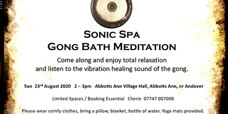 Sonic Spa Gong Bath Meditation - 23rd August 2020 tickets