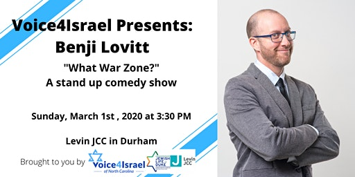 Voice4Israel presents: Benji Lovitt- What war zone? (stand up comedy show)