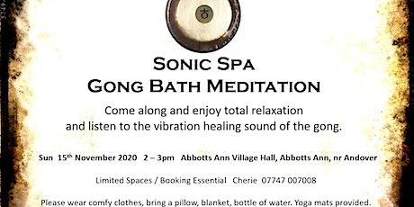 Sonic Spa Gong Bath Meditation - 15th November 2020 tickets