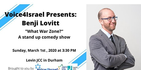 Voice4Isael Presents: Benji Lovitt- a stand up comedy show tickets