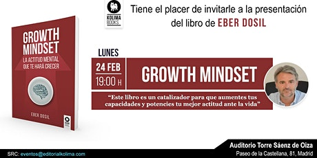 Presentación del Libro Growth Mindset  de Eber Dosil entradas