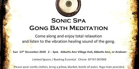 Sonic Spa Gong Bath Meditation - 13th December 2020 tickets