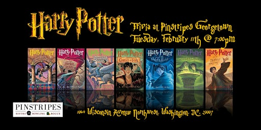 Harry Potter Books Trivia at Pinstripes Georgetown