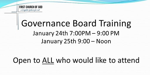 Governance Board Training for ALL Church