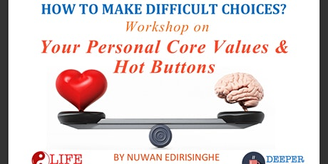 How to Make Difficult Choices? WORKSHOP on Personal Values & Hot Buttons tickets