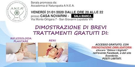 BREVI TRATTAMENTI GRATUITI DI RIFLESSOLOGIA PLANTARE E REIKI tickets