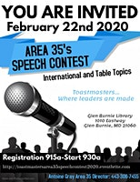 Toastmasters Area 35 Speech Contest