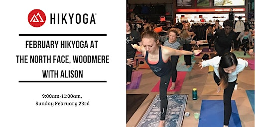 February Hikyoga at The North Face Woodmere with Alison