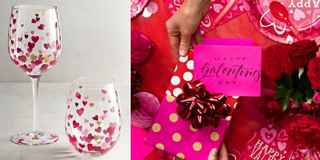 Galentine's Day Relaxation Event: Wine, Cheese, Glass Painting, and Yoga! tickets