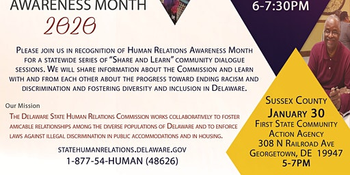 Human Relations Awareness Month 2020 - Sussex County