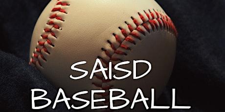 SAISD BASEBALL @ SPORTS COMPLEX tickets