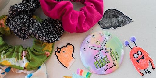 Kids' Make It Club:  Scrunchies & Stickers