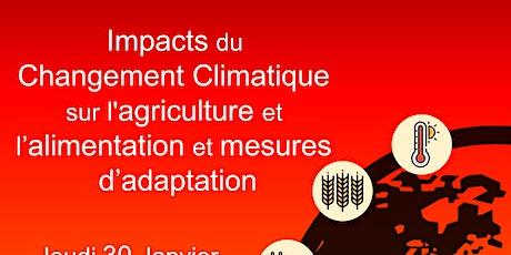 """Colloque """"Effets du Changement Climatique"""" billets"""