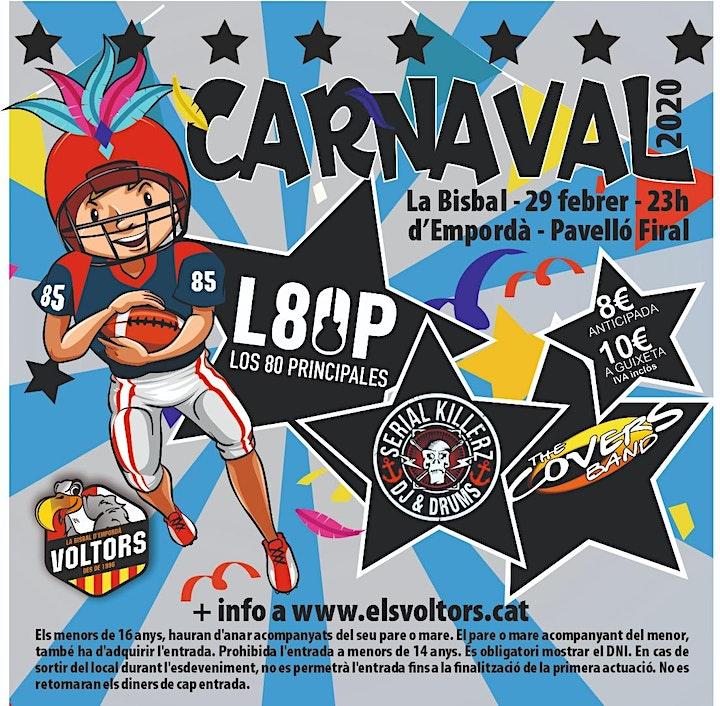Imagen de Festa de Carnaval amb 80 PRINCIPALES, THE COVERS BAND i SERIAL KILLERZ