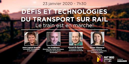 Mat'inno : Défis et technologies  du transport sur rail