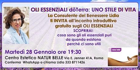 ROMA MONTEVERDE-Oli Essenziali Puri Seminario Gratuito biglietti