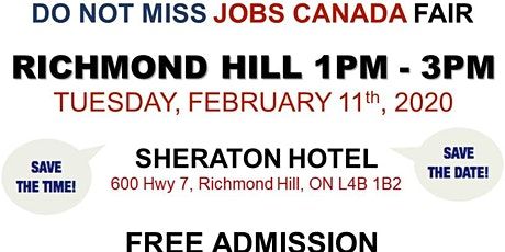Richmond Hill Job Fair – February 11th, 2020 tickets